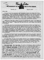 Newsletter to University Men in the Service (June 25, 1945)