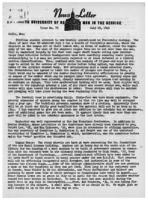 Newsletter to University Men in the Service (July 23, 1945)
