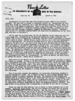 Newsletter to University Men in the Service (August 6, 1945)