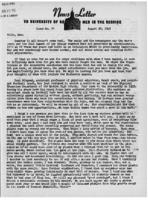 Newsletter to University Men in the Service (August 20, 1945)