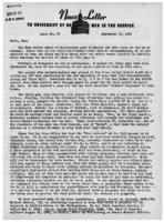 Newsletter to University Men in the Service (September 17, 1945)
