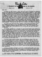 Newsletter to University Men in the Service (October 1, 1945)