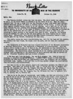Newsletter to University Men in the Service (October 15, 1945)