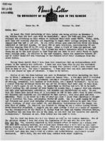 Newsletter to University Men in the Service (October 29, 1945)