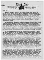 Newsletter to University Men in the Service (November 12, 1945)