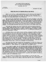 Newsletter to University Men in the Service (November 30, 1942)