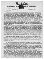 Newsletter to University Men in the Service (February 5, 1942)