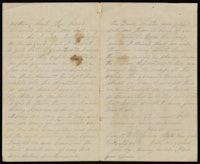 Correspondence from John McGraw to Mary McGraw, September 12, 1863
