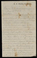 Correspondence from John McGraw to Mary McGraw, June 15, 1864