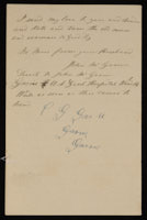 Correspondence from John McGraw to Mary McGraw, October 21, 1864