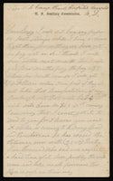 Correspondence from John McGraw to Mary McGraw, August 9, 1864