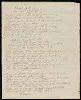 "Handwritten lyrics to song ""Camp Gals"". In John McGraw's hand"