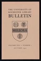 p.1 University of Rochester Library Bulletin, v. 13, no. 1