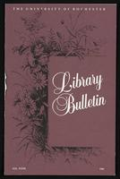 University of Rochester Library Bulletin, v. 39