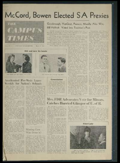 Campus Times (March 12, 1943)