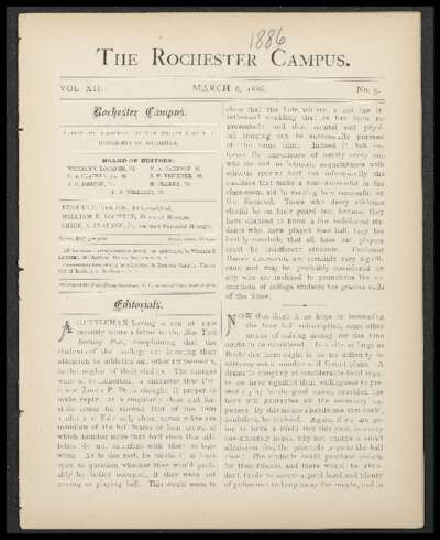 Rochester Campus (March 06, 1886)