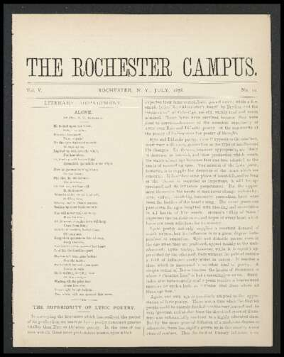 Rochester Campus (July 1878)