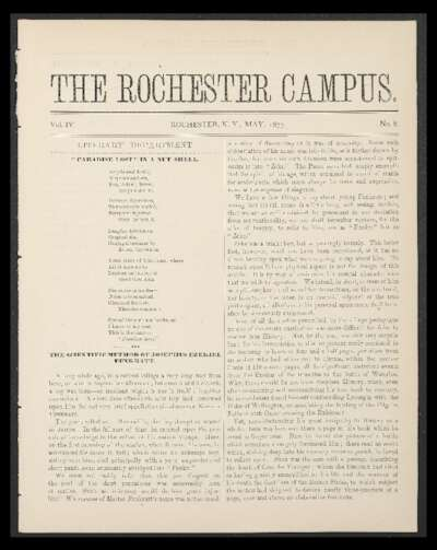 Rochester Campus (May 1877)