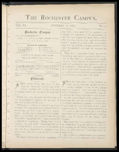 Rochester Campus (January 17, 1885)