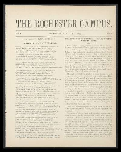 Rochester Campus (April 1877)