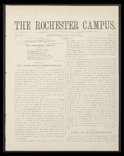 Rochester Campus (July 1877)
