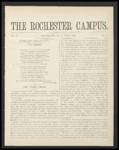 Rochester Campus (May 1878)