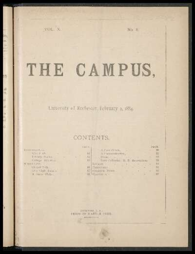 Rochester Campus (February 02, 1884)