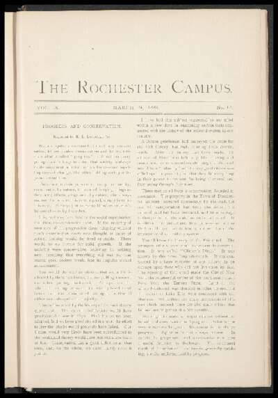 Rochester Campus (March 24, 1883)