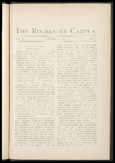 Rochester Campus (October 21, 1882)