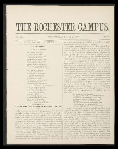 Rochester Campus (July 1876)