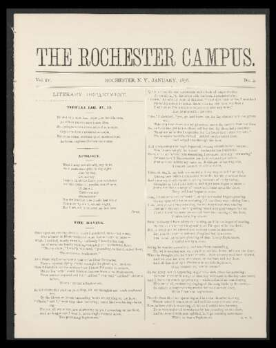 Rochester Campus (January 1876)