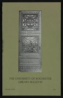 University of Rochester Library Bulletin, v. 33