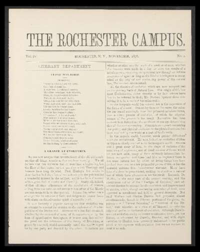 Rochester Campus (November 1876)