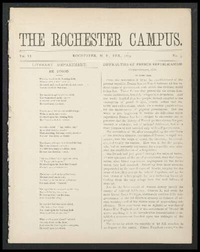Rochester Campus (February 1879)