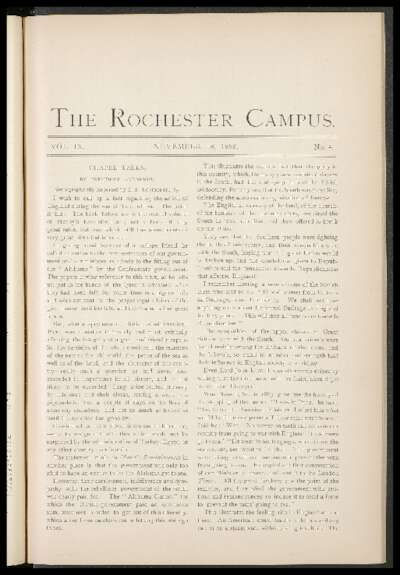 Rochester Campus (November 18, 1882)