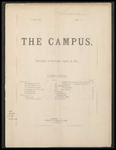 Rochester Campus (April 28, 1883)