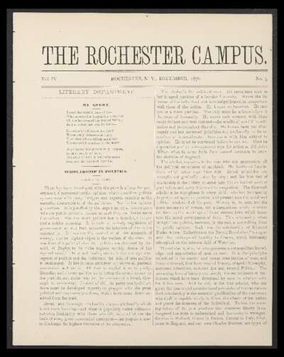 Rochester Campus (December 1876)