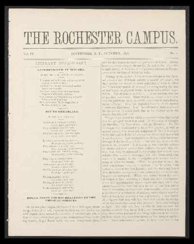 Rochester Campus (October 1876)