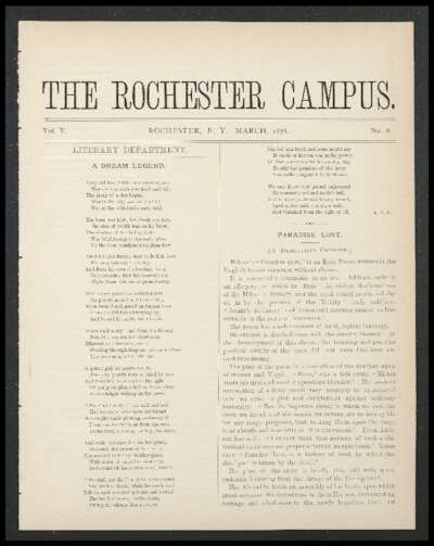Rochester Campus (March 1878)