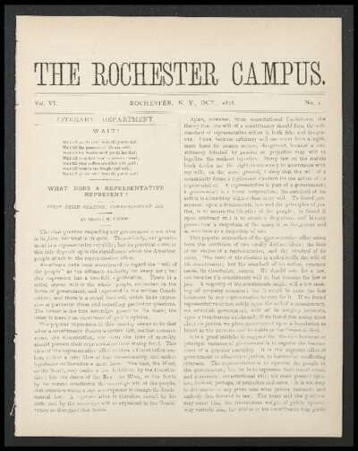 Rochester Campus (October 1878)