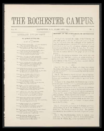 Rochester Campus (February 1877)