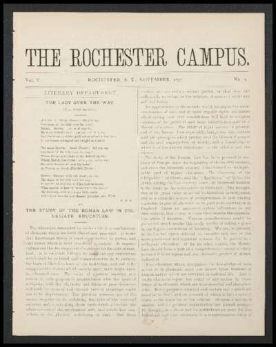 Rochester Campus (November 1877)