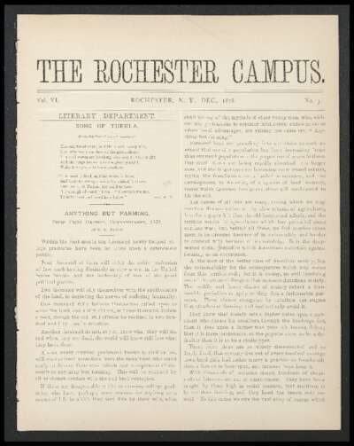 Rochester Campus (December 1878)