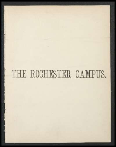 Rochester Campus (October 1877)