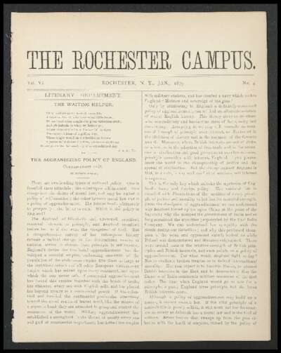 Rochester Campus (January 1879)