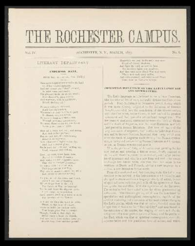 Rochester Campus (March 1877)