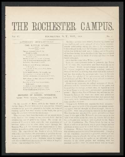 Rochester Campus (November 1878)