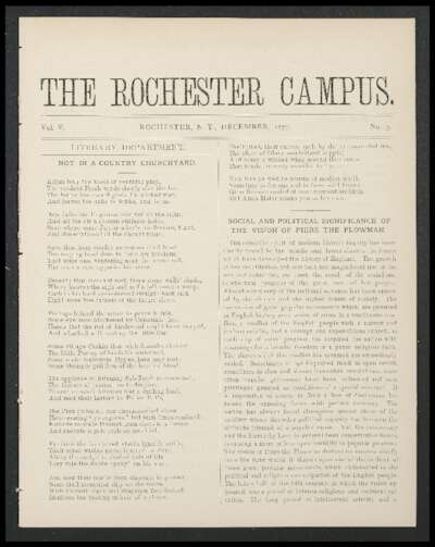 Rochester Campus (December 1877)