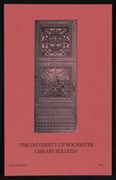 University of Rochester Library Bulletin, v. 34