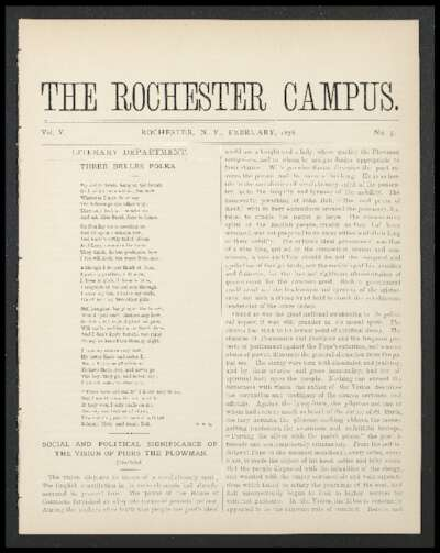 Rochester Campus (February 1878)
